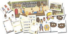 Twinkl Resources >> Goldilocks and the Three Bears Role Play Pack >> Printable resources for Primary, EYFS, KS1 and SEN.  Thousands of classroom displays and teaching aids! Topics, Storybooks, Goldilocks, Role Play, Resource Packs