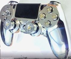 PlayStation 4 Wireless Controller+DualShock 4 Chrome Shell+ps4 Bullet Buttons #FireZonePro