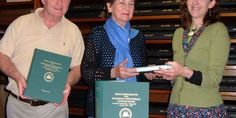 Clare Local Studies Center in Ennis received a generous donation when New York- based Clare Harvey Curtin presented three volumes of Irish Immigrants of the Emigrant Industrial Savings Bank by Kevin J Rich to Clare County Library.