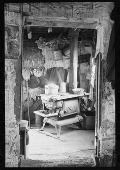 1936 kitchen #kitchen #black #white  Kitchens & the evolution thereof ~ ) Great pictures of kitchens