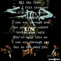 One of the best Staind lyrics!