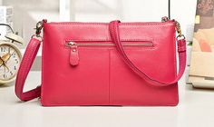 Rose Fashion Casual Embossing Nappa Leather Messenger Shoulder Bags Messenger Bags, Shoulder Bags, Rose, Casual, Leather, Fashion, Pink, Moda, La Mode