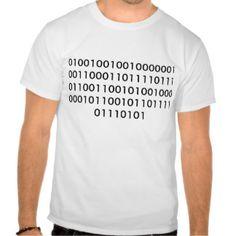 I Love You in binary code Tshirt