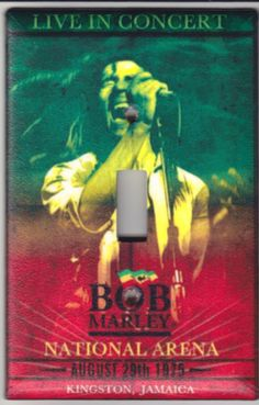 Bob Marley Music Concert Poster Switchplate by SpottedDogStudios, $8.00