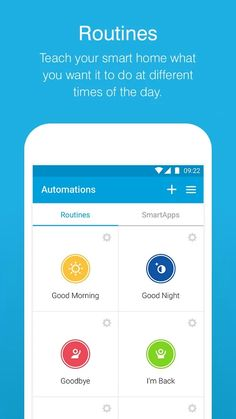 SmartThings Mobile- หน้าจอ