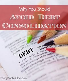 Debt consolidation may sound like the perfect solution to your debt woes - but it may actually be the worst thing you can do!! There are reasons why you should avoid debt consolidation - so read this before you sign up!