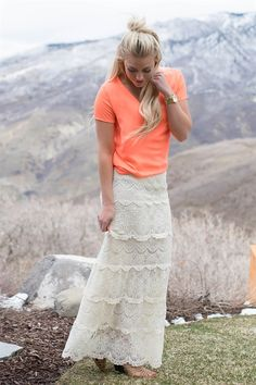 Adorable Crochet Lace Maxi