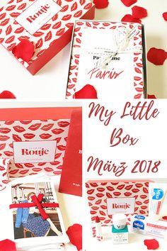 """Diesen Monat verzaubert die My Little Box März 2018 in rot und in Kooperation mit Jeanne Damas und ihrem Label """"Rouje"""" entstand so die aktuelle Ausgabe: La Vie En Rouje. Die My Little Box kommt ursprünglich aus Frankreich und hält jeden Monat mehrere Produkte bereit."""