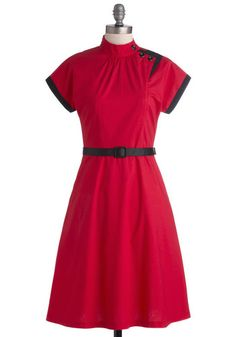 Red 1930s style dress - Tattoo Artiste Dress http://www.vintagedancer.com/1930s/1930s-plus-size-dresses/