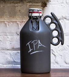 Brass Knuckle Handle Chalkboard Growler