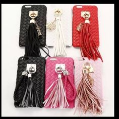⭐️NOW AVAILABLE ⭐️IPhone 6/6s Tassel Phone Covers 📞IPhone 6/6s Tassel Phone Cases💙          ❣Fits Apple iPhone 6/6s ❣Stylish and cute design ❣Knitted imitation surface ❣Full and easy access to all ports and controls ❣Sleek and slim design 💥💙Colors Black/Silver ,  Black /Gold , 1 White , Red and 1 Light Pink.left. 💞Listed below are the colors I have just click the one you want and you can purchase 🚫FIRM ON PRICE 🚫 Accessories Phone Cases