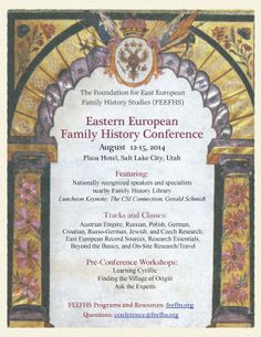 Eastern European Family History Conference — Foundation for East European Family History Studies (FEEFHS)