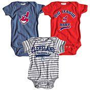 Cleveland Indians 3 Pack Boys Big League Baby Creeper Set by Soft as a Grape - MLB.com Shop