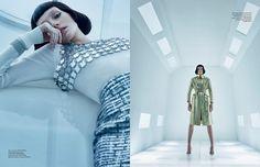 Josephine le Tutour gets futuristic in metallic fashions