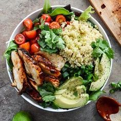 Honey Chipotle Chicken Bowl w/ Lime Quinoa