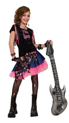 Rubies Kinderkostüm - Pink Rock Girl Gr. L