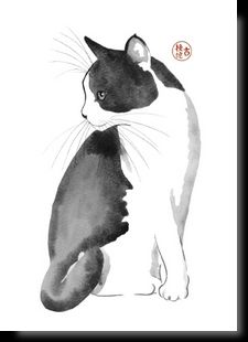 Discover recipes, home ideas, style inspiration and other ideas to try. Watercolor Cat, Watercolor Animals, Watercolor Illustration, Animal Sketches, Animal Drawings, Cute Cats And Dogs, Cats And Kittens, Animal Silhouette, Maneki Neko