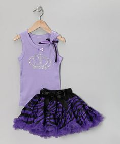 Take a look at this Lavender Crown Tank & Zebra Pettiskirt - Infant, Toddler & Girls by So Girly & Twirly on #zulily today!