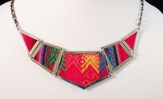 #fairtrade Kahlo Recycled Aguayo Necklace handmade by women artisans in Cochabamba, Bolivia. @FairTradeDesigns