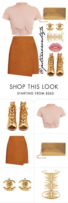 """""""💖"""" by jestineownstyle ❤ liked on Polyvore featuring Gianvito Rossi, MSGM, Jimmy Choo, Chanel and Joanna Laura Constantine"""
