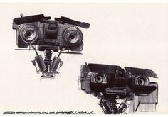 Johnny Five Head drawing