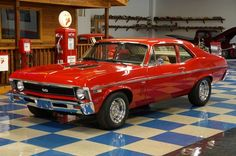 Chevy Nova SS✿ this was my first car, built it with my pops and friends, cried when I sold it. Mine was not an ss Vintage Cars, Antique Cars, Hot Rods, Trailers, Chevy Nova, Chevy Ss, 4x4, Gm Car, Chevy Muscle Cars