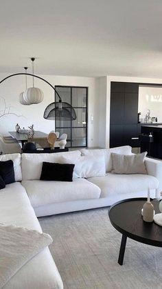 Living Room Decor Cozy, Living Room Interior, Home Living Room, Living Room Designs, Home Design, Modern House Design, Home Interior Design, Ideas Hogar, Bright Rooms