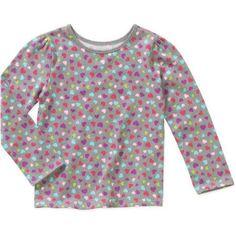 Garanimals Baby Toddler Girl Long Sleeve Printed Tees, Size: 5 Years, Gray