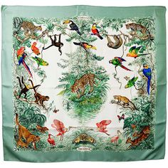 Beautiful Hermes Equateur Silk Scarf