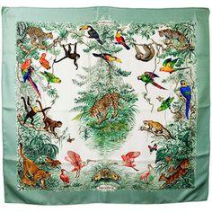 Beautiful Hermes Equateur Silk Scarf