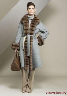 Шубы и дубленки 1(Модели № 1-50) - ЛЕНТЯЙКИ.РУЛЕНТЯЙКИ.РУ Fur Fashion, Winter Fashion, Fashion Outfits, Womens Fashion, Fabulous Furs, Cashmere Coat, Winter Coat, Coats For Women, Mantel
