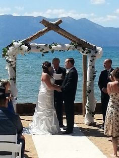 Lakeside Beach Wedding Ceremony 8 24 14 By At Tahoe Weddings And Special Events