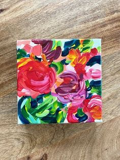 Abstract Roses on Canvas Painting Ideas | DIY Acrylic Flowers on Canvas Painting Projects | Elle Byers Art Classes and Tutorials | Fun & Easy Acrylic Paintings! Canvas Painting Projects, Painting Classes, Painting Process, Painting Lessons, Acrylic Painting Canvas, Acrylic Flowers, Abstract Flowers, Paint Flowers, Simple Acrylic Paintings