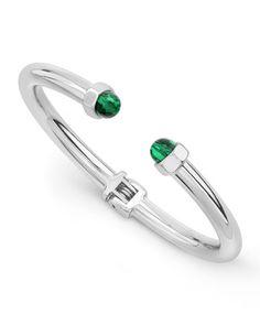 Luciano Malachite Circolo Cuff Bracelet, Sterling Silver by Vita Fede at Neiman Marcus Last Call. $204.75