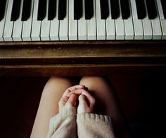 Lelia loves playing the piano. she was self taught and it is almost a way to calm her down.