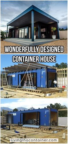 Building A Container Home, Container Buildings, Container Architecture, Shipping Container Home Designs, Shipping Container House Plans, Shipping Containers, Casas Containers, Tiny House Living, Living Room