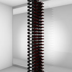 Floor-to-Ceiling | Metal Floor Standing Wine Rack - Ultra Wine Racks Wine Bottle Storage, Wine Racks, Wine Bottle Crafts, Wood Wall Wine Rack, Standing Wine Rack, Bottles For Sale, Flooring Sale, Metal Floor, Wine Collection
