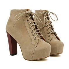 Elegant Button and High Heel Design Women's Short BootsBoots   RoseGal.com