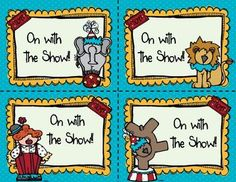 """This is a set of (Editable) Circus Postcards to welcome students to school or back to school. Also included: """"On with the Show"""" cards. To Make: Copy Circus card and then on the back print either the blank card or pre-written card. Circus Bulletin Boards, Circus Classroom, Classroom Themes, Circus Pictures, Welcome Students, Literacy Games, Free Teaching Resources, Back To School, School Stuff"""