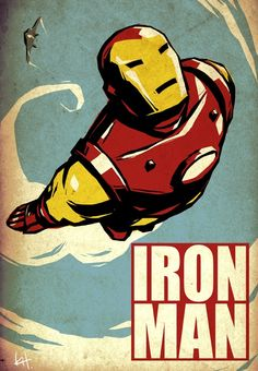 Look!!  Vintage-y Iron Man!  (Rhys is my excuse for pinning these BTW)