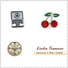 Confira os novos mini charms disponíveis no site. Novidades todas as semanas :) #cupidolovestore #linhatreasure #charms #capsulas #lifesecrets