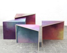 Wooden Aquarelle project by Meike Harde, from Salone Satellite
