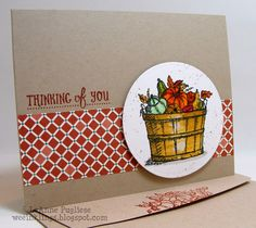 wee inklings - SU - Basket of Wishes, Stampin Up, The Challenge, Watercoloring - Fall