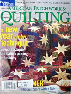 American Patchwork and Quilting, February 2004, Issue 66 by CurlicueCreations on Etsy