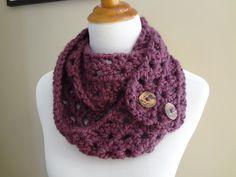 free Crochet Button Cowl Scarf Pattern | Free Crochet Pattern...Fiona Button Scarf!