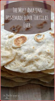 These simple homemade flour tortillas will put anything store-bought to shame, and they cook up super fast - next time you have a craving for south-of-the-border, give these a try! Authentic Mexican Recipes, Mexican Food Recipes, Real Food Recipes, Cooking Recipes, Yummy Food, Cooking Tips, Dinner Recipes, Mexican Desserts, Freezer Recipes