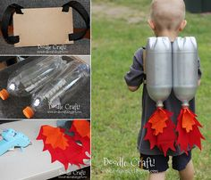 Drink Bottle Upcycled Rocket Pack