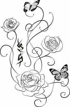 Rose tattoo by Ariesmzj