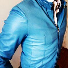 Sky blue Fes jacket by Fenani