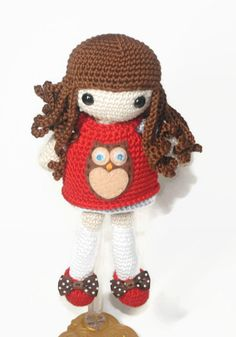 Little Cutie Owl Girl Crochet Amigurumi Doll by EmmaIrlamCrafts☆